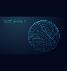 music abstract background blue data technology vector image