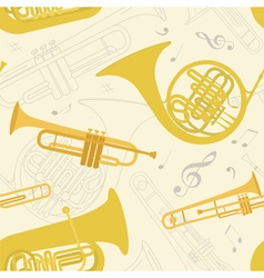 Musical instruments seamless pattern vector