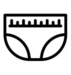 Night diaper icon outline style vector