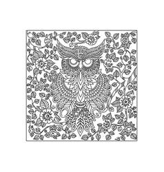 owl bird animal ornament vector image