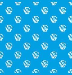 Paintball mask pattern seamless blue vector