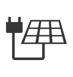 Panel solar with cable isolated icon design vector