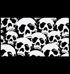 pattern skull destroyed cloth vector image