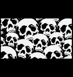 pattern skull destroyed cloth vector image