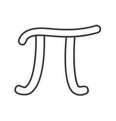 Pi linear icon vector