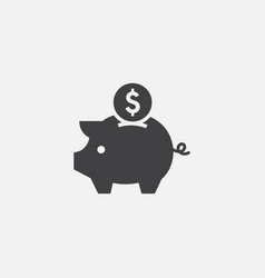 piggy bank flat icon symbol earning icon vector image