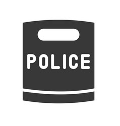 Police riot shield solid icon vector