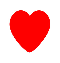 red heart icon happy valentines day love sign vector image