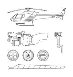 Repair and maintenance of the helicopter vector