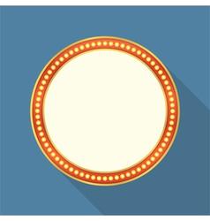 Round Retro Banner vector