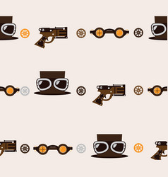 seamless square pattern with steampunk accessories vector image