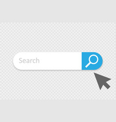 search icon search bar for ui vector image