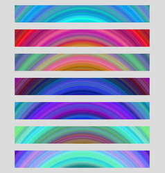 Set of colorful web banner backgrounds vector