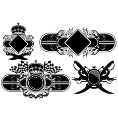 Set of ornamental labels vector