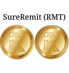Set of physical golden coin sureremit rmt vector