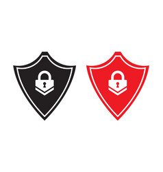 Shield security icon with lock concept for app or vector
