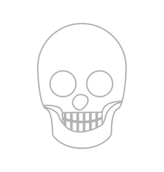 Silhouette skull bones with teeths vector