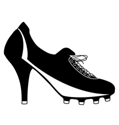 Soccer boot for women vector