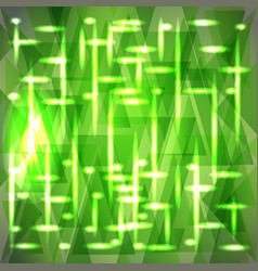Sparkling pattern of delicate green fragments vector