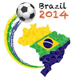 Sport poster soccer vector