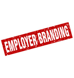 square grunge red employer branding stamp vector image