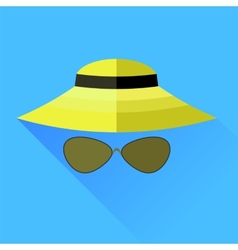 Straw Hat and Glasses vector