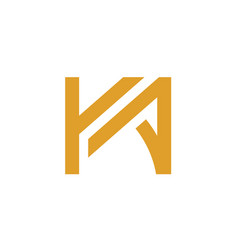 symbols of the initial letter ka or ak vector image