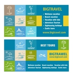 Template ads banner icon Tourism tour operator vector image