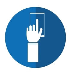 Touch smartphone device app shadow vector
