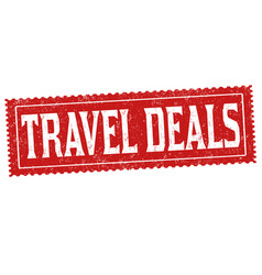 Travel deals grunge rubber stamp vector