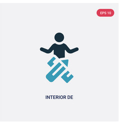 Two color interior de icon from people skills vector