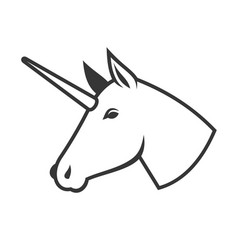 Unicorn head icon logo sign vector