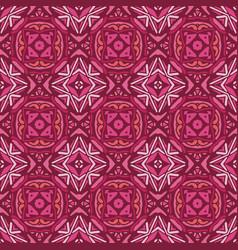 vintage seamless ceramic tile wallpaper vector image