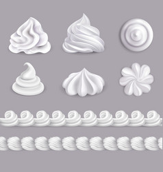 Whipped cream set vector