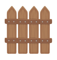 Wooden decorative sectional fence fencing for the vector