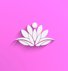Yoga Lotus abstract vector