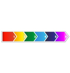 Arrow banner in six steps vector image vector image