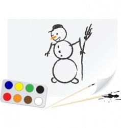 drawing snowball vector image vector image