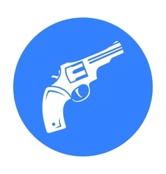 Revolver icon black singe western icon from the vector