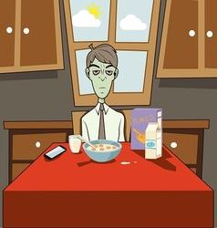 Dozombox The Capitalism Zombie Breakfast vector image vector image