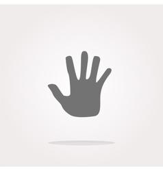 hand icon on web button Web Icon Art vector image vector image
