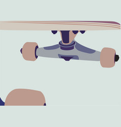 skateboard background vector image