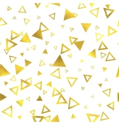 Geometric gold glittering foil seamless pattern vector image
