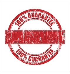 guarantee stamp vector image vector image