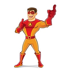 Handsome Superhero Laugh vector image
