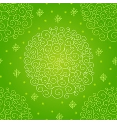 pattern with Christmas ball vector image vector image