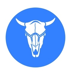 Bull skull icon black singe western icon from the vector