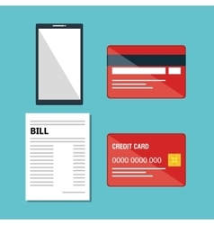 credit card business icon vector image