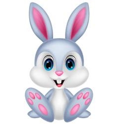Cute baby rabbit cartoon vector image vector image