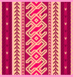ethnic fabric pattern vector image vector image